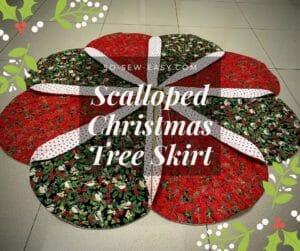 Scalloped Christmas Tree Skirt