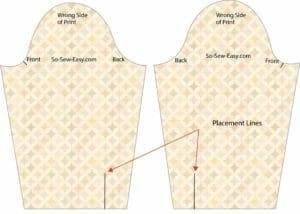 placket pattern