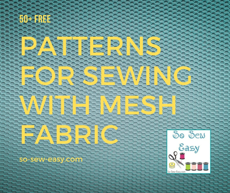 sewing with mesh fabric