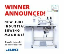 Winner Announced Juki Giveaway