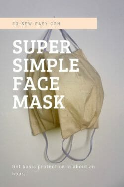 super simple face mask