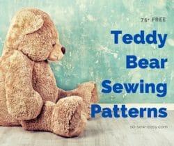 teddy bear sewing patterns