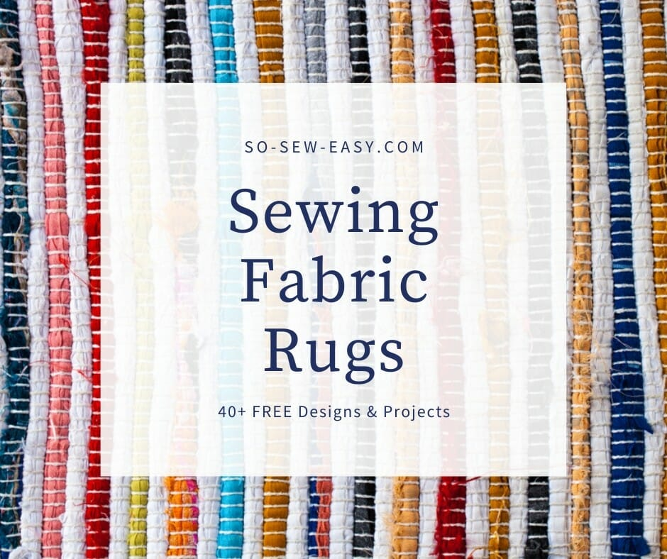 sewing fabric rugs