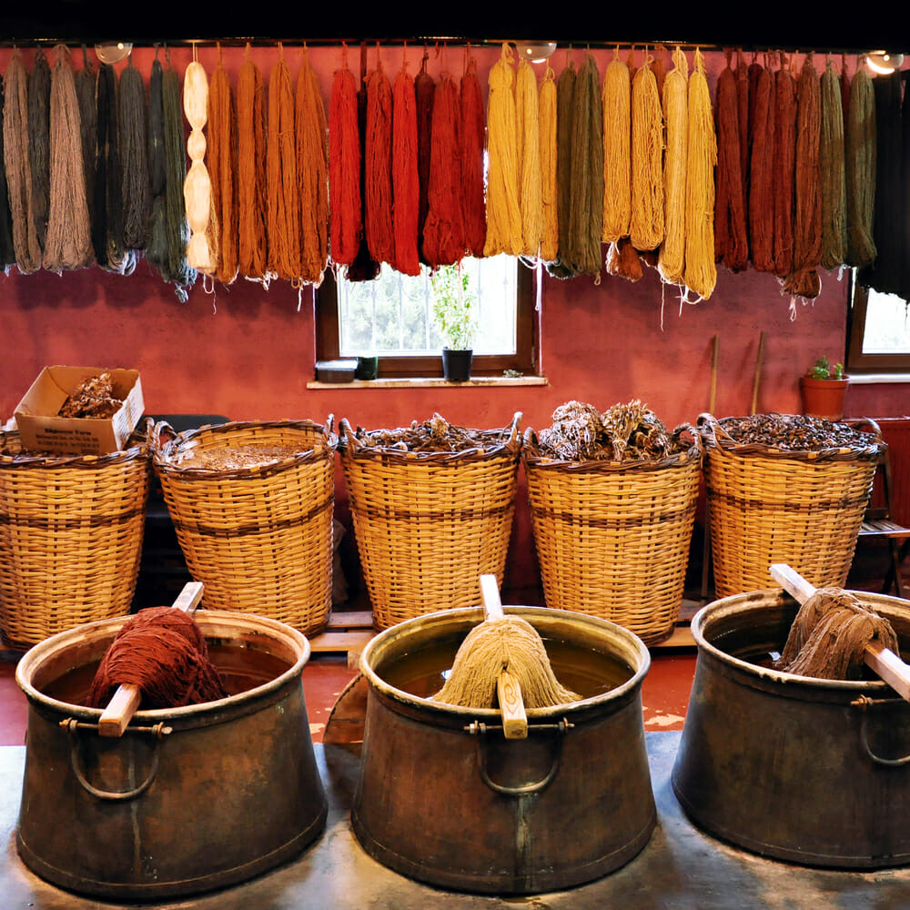 History of Dyeing Fabric