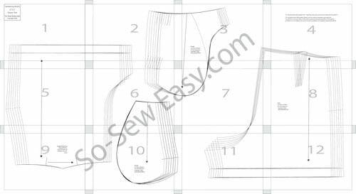 women's dressy shorts pattern