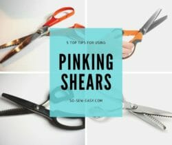using pinking shears