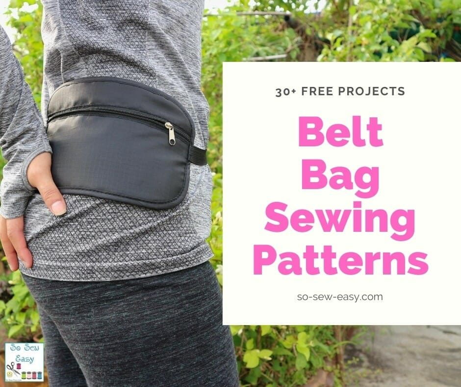 belt bag sewing pattern