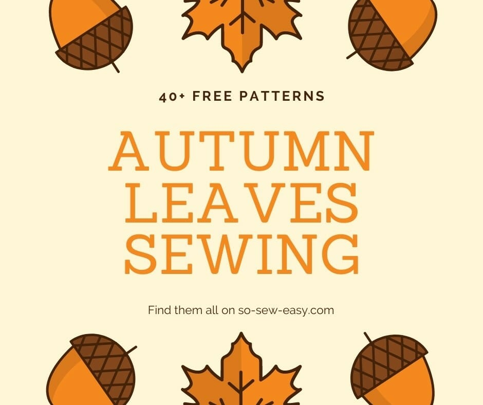 autumn leaves sewing