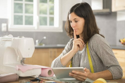 Sewing Online Groups Reduce Stress
