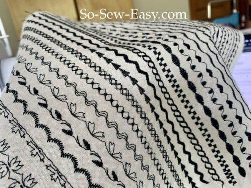 basic sewing machine embroidery stitches