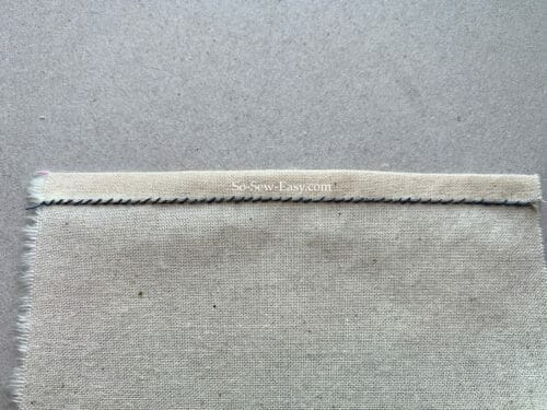 hand-sewing stitches