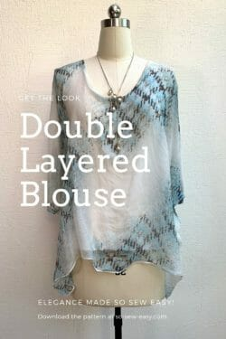 doubled layered blouse