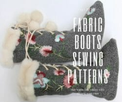 fabric boots sewing patterns