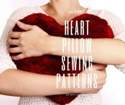 heart pillow sewing patterns