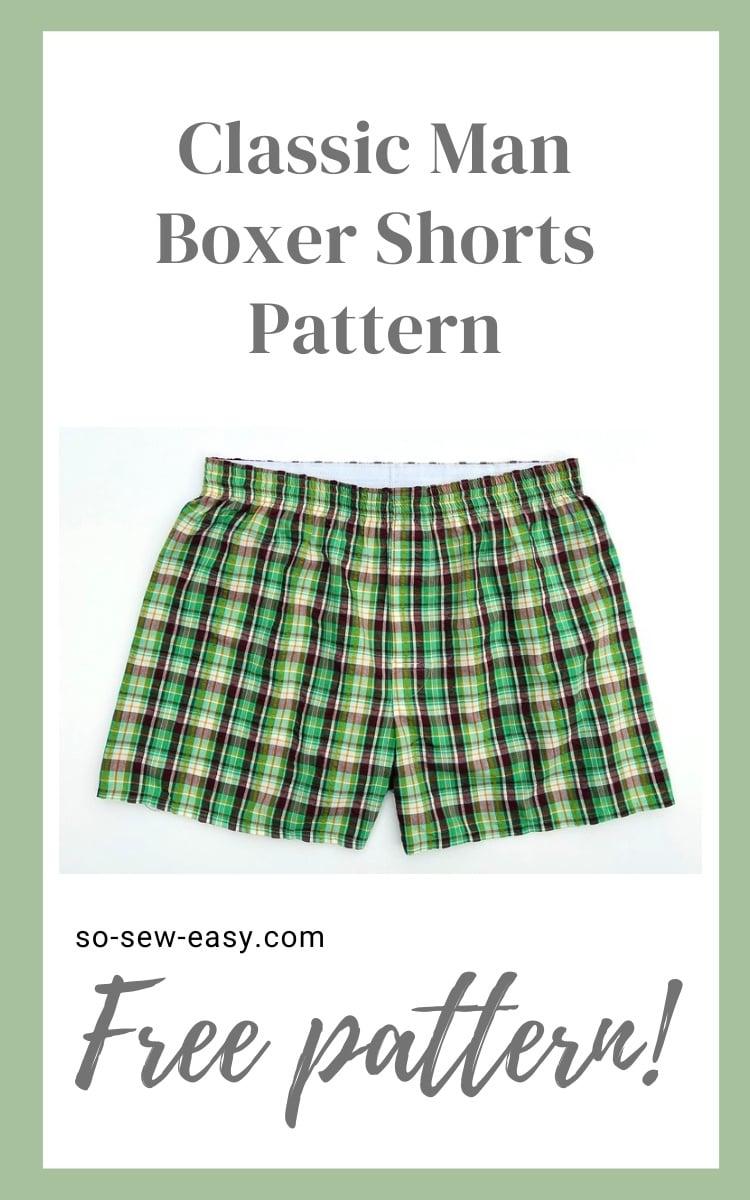 classic man boxer shorts pattern