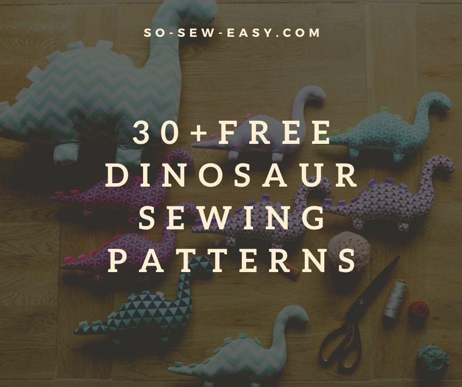 dinosaur sewing patterns